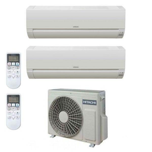 CLIMATIZZATORE HITACHI DODAI DUALSPLIT 7000+9000+RAM-40NE2F R-32