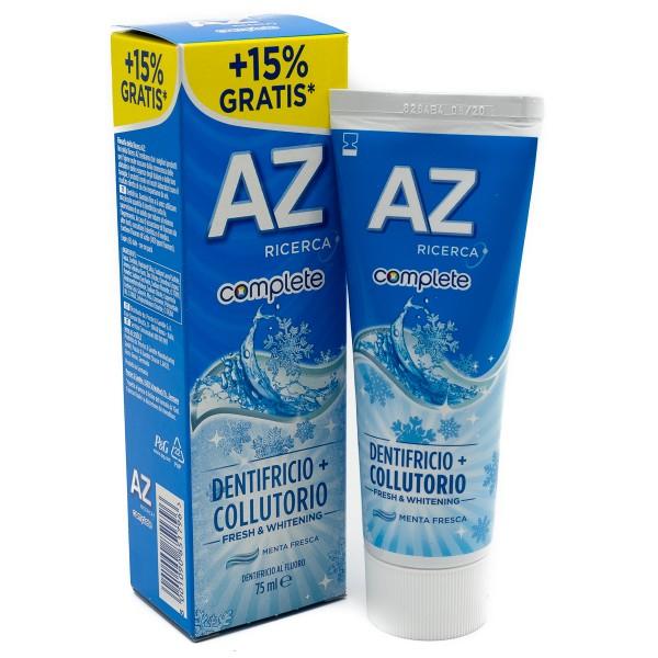 AZ COMPLETE DENTIFRICIO+COLLUTORIO WHITENING 75ML