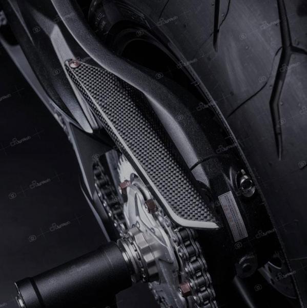 Copri catena in carbonio Lightech per MV Agusta Rivale 800 13-19 – Versione OPACA
