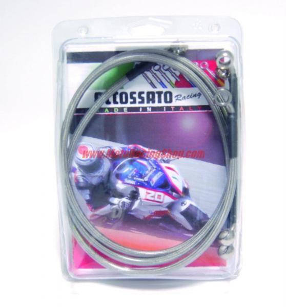 Kit tubi in treccia ACCOSSATO (Ant+Post) configurazione DIRETTI per Yamaha R6 06-16