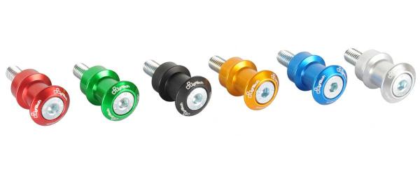 Nottolini per cavalletto posteriore Lightech in ergal anodizzati in vari colori M6 (COPPIA)