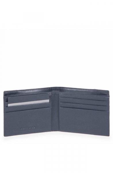 Portafoglio PIQUADRO P16 Uomo pelle e tessuto Blu – PU3891P16-CHEVBLU