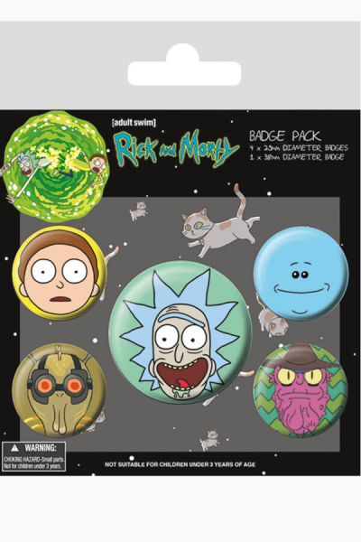 Rick And Morty Faces Badge Pack