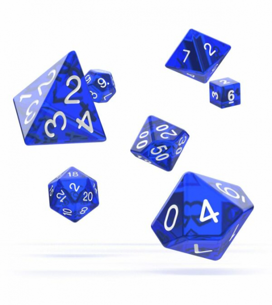 Oakie Doakie Dice RPG Set Translucent – Blue (7)