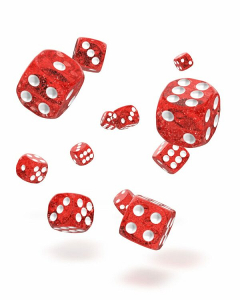Oakie Doakie Dice D6 Dice 12 mm Speckled – Red (36)