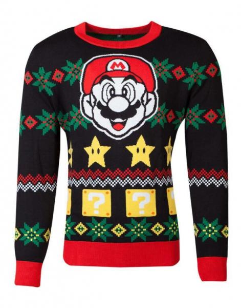 Nintendo Knitted Christmas Sweater Super Mario Night