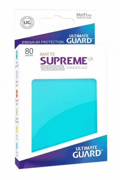 Ultimate Guard Supreme UX Sleeves Standard Size Matte Aquamarine (80)