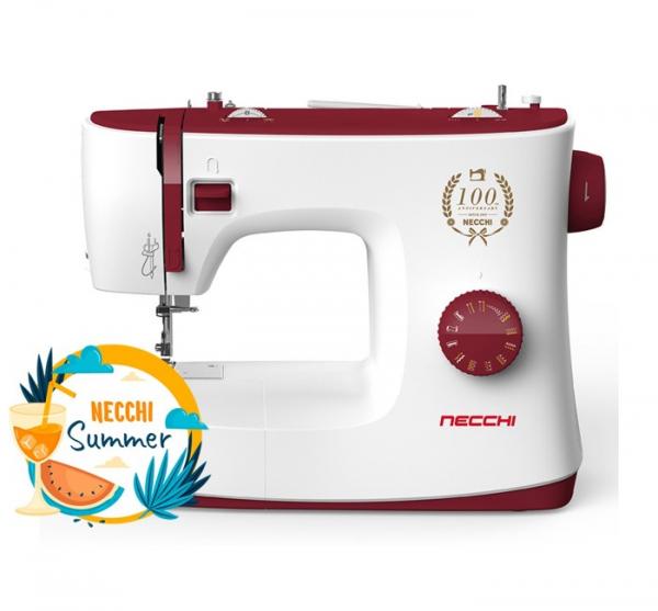 Macchina per cucire meccanica Necchi K417A + Piedino Tagliacuci + 5 ANNI DI GARANZIA