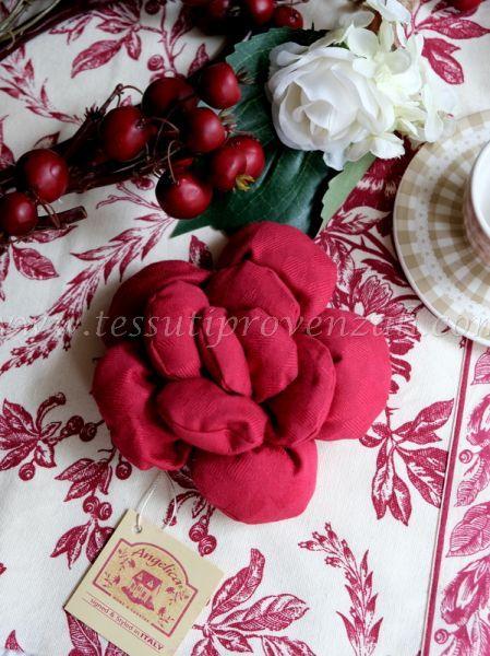 Spilla decorativa imbottita Angelica Home & Country – colore bordeaux