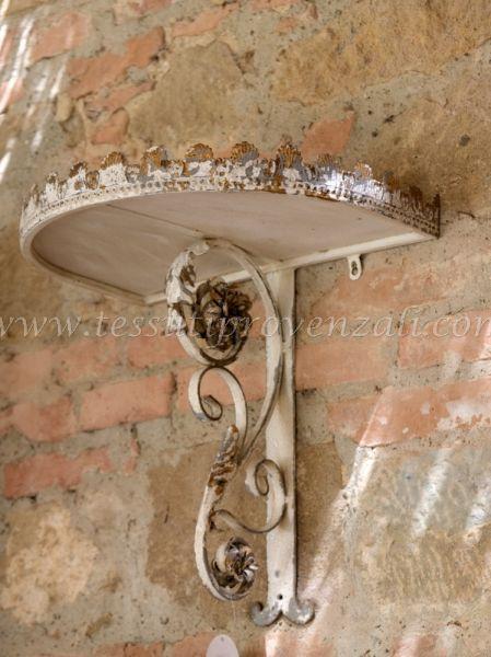 Blanc Mariclo' mensola da parete in metallo shabby chic