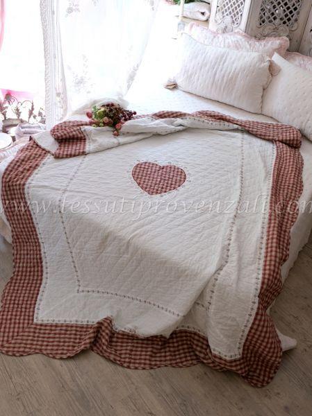 Copriletto singolo Clayre & Eef in cotone con bordo tartan