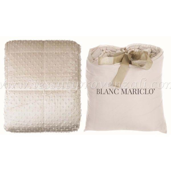 Blanc Mariclò plaid matrimoniale serie Bubble shabby chic cm. 200×240