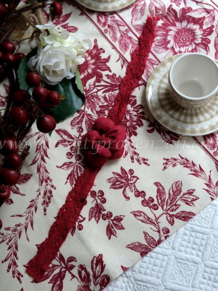 Fermatenda Angelica Home & Country shabby chic – colore bordeaux