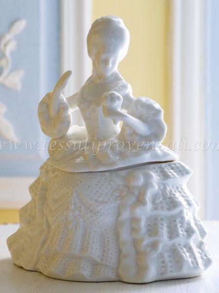 "Portagioie dama Mathilde. M. serie Cabinet des Merveilles"" shabby chic"