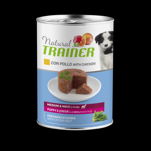 Natural Trainer Dog Medium&Maxi Puppy&Junior – Pollo 400g