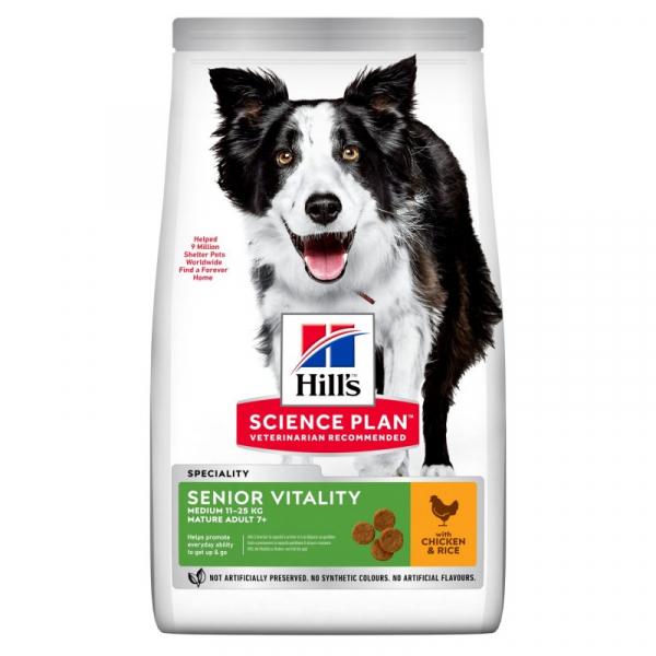 Hill's Dog Adult Medium Senior Vitality Mature 7+ – Pollo
