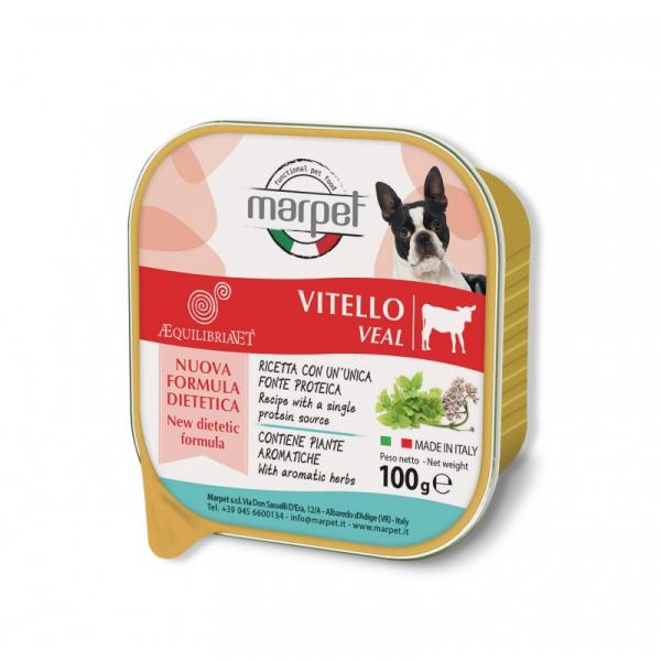 Marpet Æquilibiavet Dog Monoproteico Vitello 100g