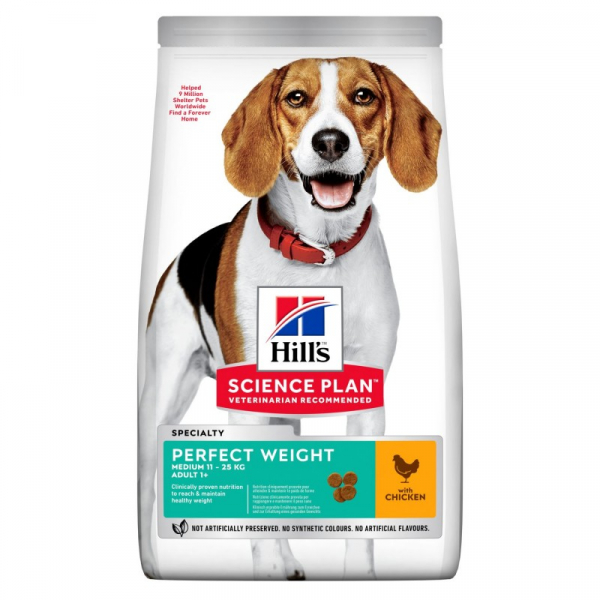 Hill's Dog Adult Medium Perfect Weight – Pollo