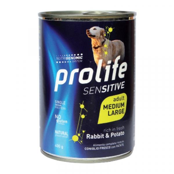 Prolife Dog SENSITIVE Adult Medium/Large – Rabbit & Potato 400g