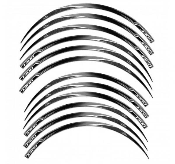ADESIVI 3D PER CERCHI 13′ E 14′ COMPATIBILI CON KAWASAKI J300 GRIGIO