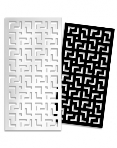 LABYRINTH – L – Pannello in PVC traforato – Parasole