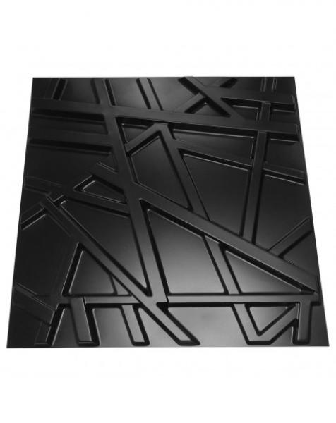 RANDOM nero – Pannello parete in PVC a rilievo 3D – 50cmX50cm – 1 Pz