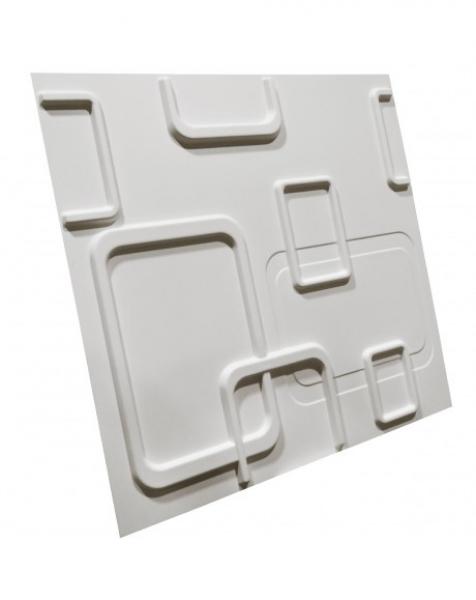 SMART bianco – Pannello parete in PVC a rilievo 3D – 50cmX50cm – 1 Pz