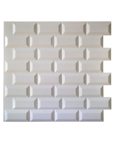 MILK – Pannello per parete in PVC a rilievo 3D – 595mmX560mm