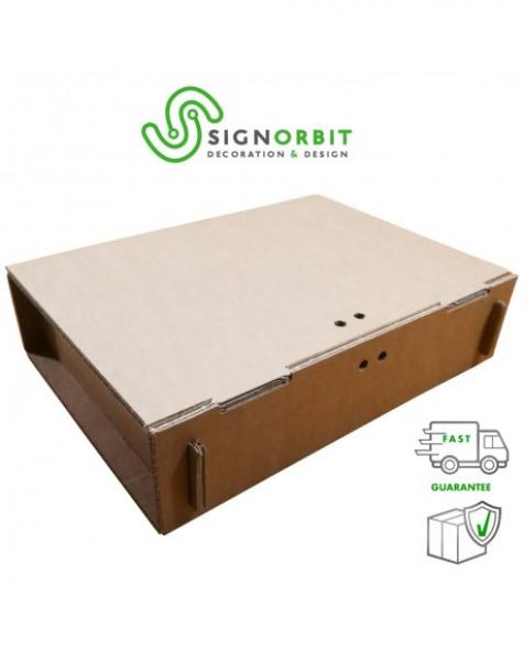 Cassettina in cartone porta vini a 1- 2 o 3 scoparti – 36cm X26,5cm xH9cm