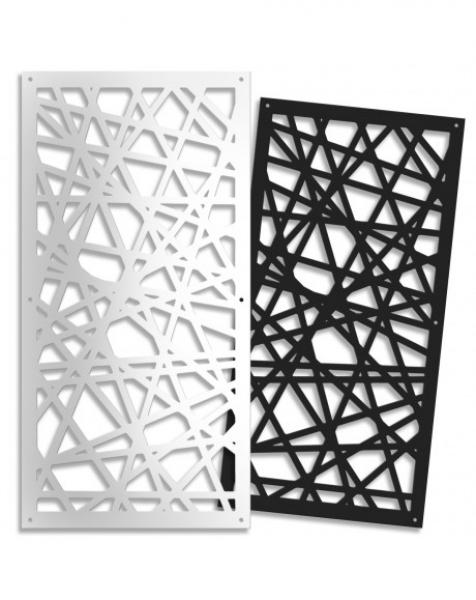 DIAGONAL (S) Pannello traforato in PVC –  47x94cm x H1cm