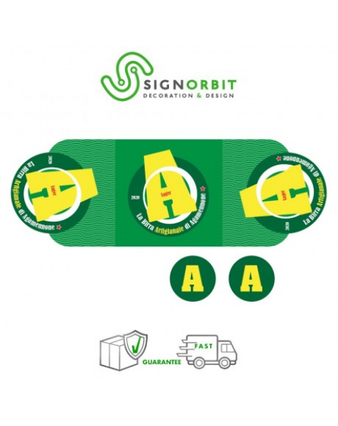 Fasce adesive personalizzate per Cassettina Birra – 13,5cm X39,5cm