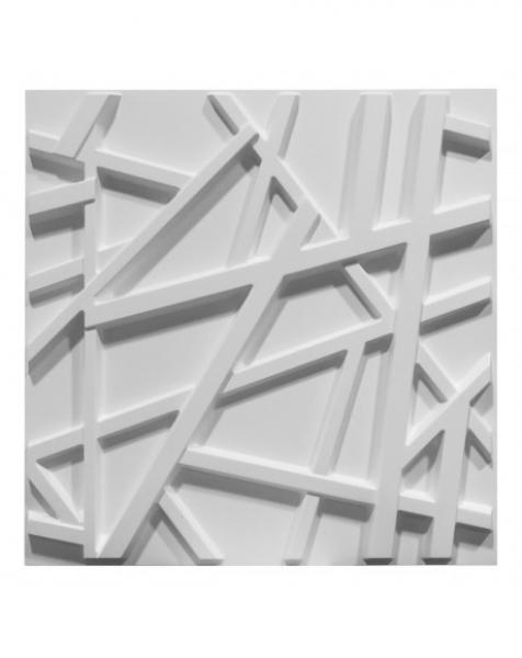 RANDOM bianco – Pannello parete in PVC a rilievo 3D – 50cmX50cm – 1 Pz