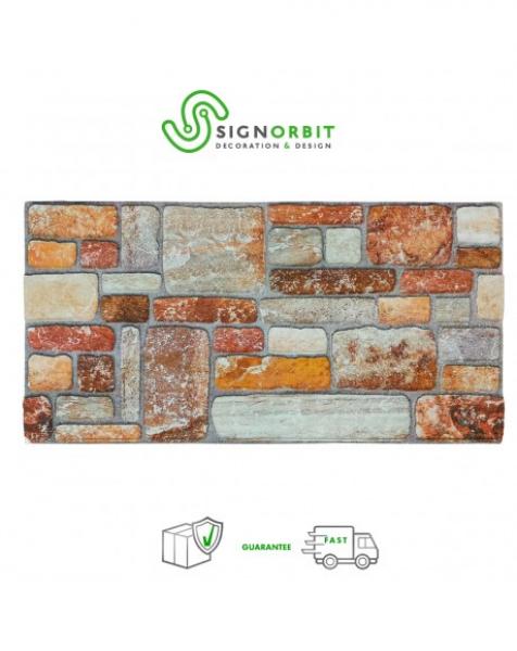 Terre di Siena – Pannello finta Pietra in EPS Resinato Misura 100×50 cm Spessore 2 Cm