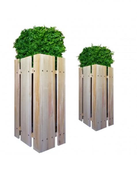 FIORIERA-WOOD – Porta vasi – 40x51X100cm – in Legno
