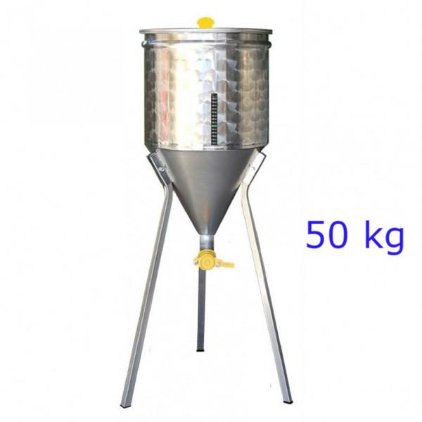 MATURATORE MIELE INOX FONDO CONICO  50 KG
