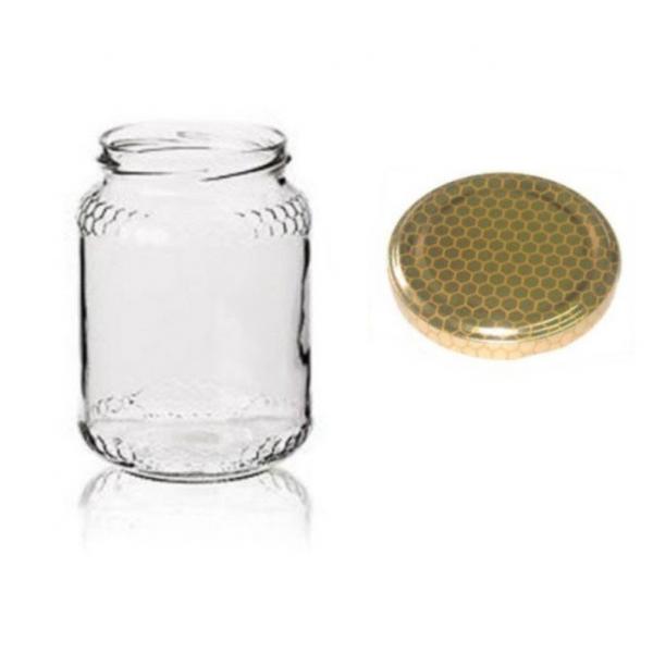 24 Barattoli vasetti vetro per miele 390 ml – 500 g con tappo