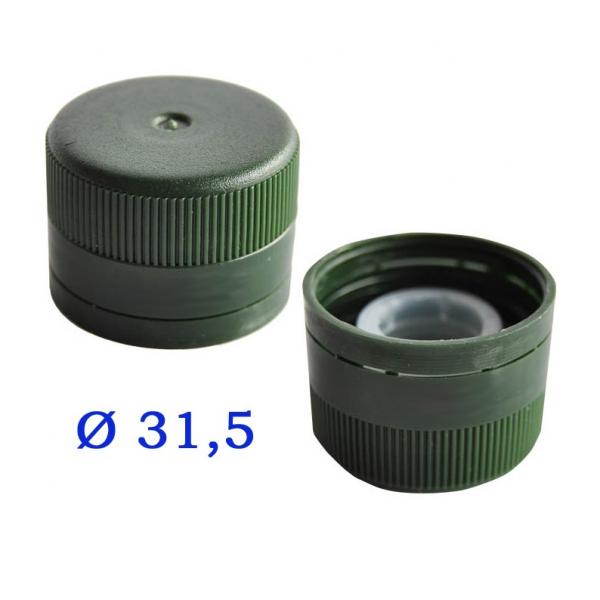 TAPPO A VITE IN PLASTICA CON SOTTOTAPPO 31,5×24 mm