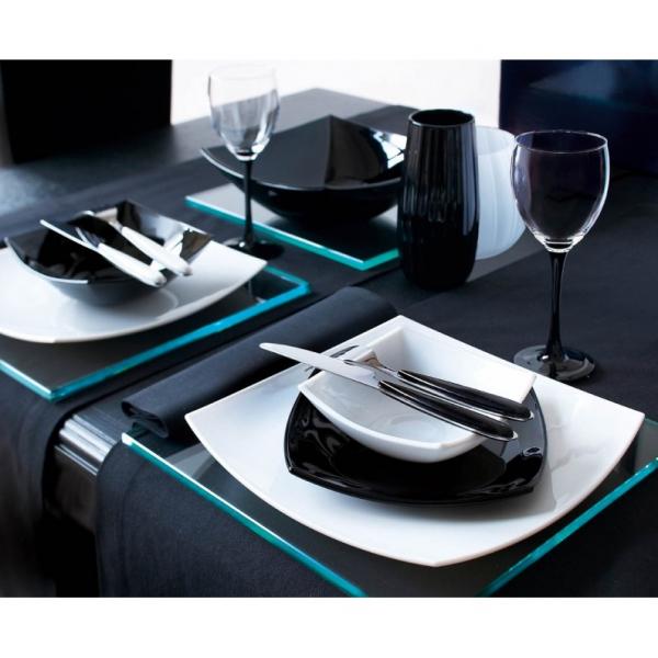 Servizio piatti Luminarc Quadrato arcopal black white 18 pz