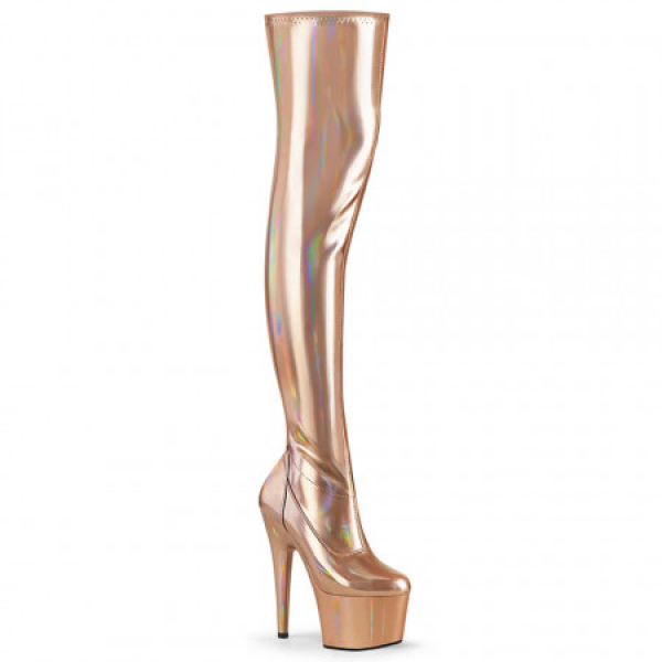 Pleaser ADORE-3000HWR Rose Gold Str. Holo/Rose Gol