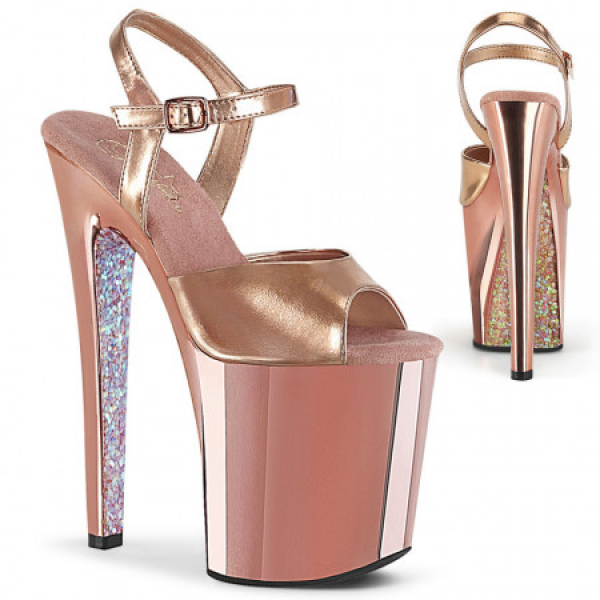 Pleaser XTREME-809TTG Rose Gold Metallic Pu/Rose G