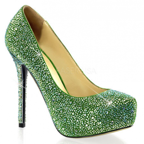 Pleaser Day & Night PRESTIGE-20 Green Suede