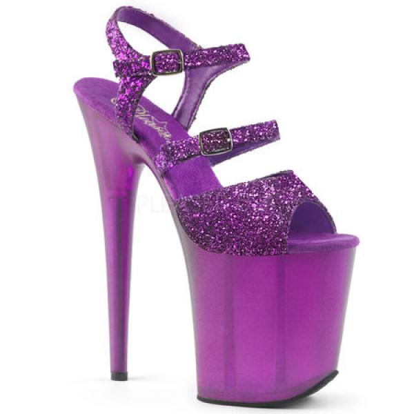 Pleaser FLAMINGO-874 Purple Glitter/Frosted Purple