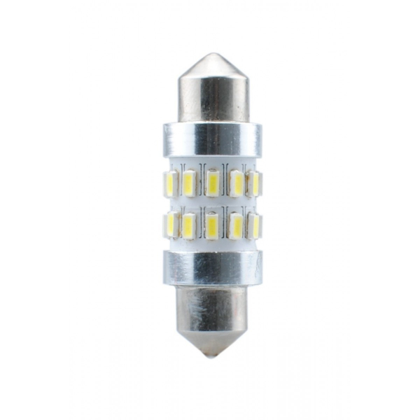 Diodo LED L344 C5W 36mm 24xSMD3104 CANBUS bianco