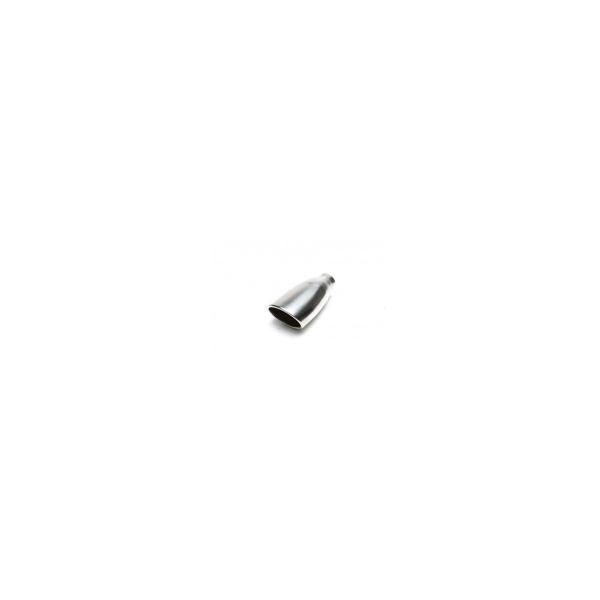 FINALE CROMATO  lungh. 153mmcollegamento 61mmetro estr: 116 x 88mm con Absorber 102x75mm oval